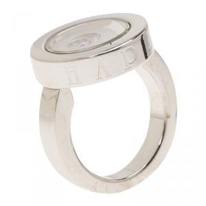 Chopard Happy Spirit Diamond White Gold Ring Size 52