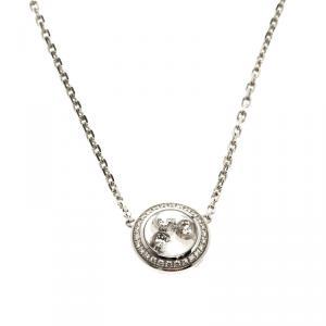 Chopard Happy Curves Diamond 18k White Gold Necklace