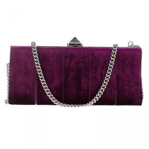 Christian Louboutin Purple Velvet Evening Bag