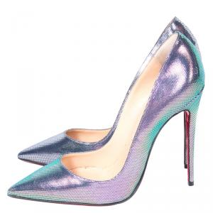 Christian Louboutin Scarabe Leather & Mesh So Kate Pumps Size 37