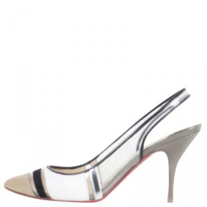 Christian Louboutin Tri-Color Highway Slingback Sandals Size 38.5