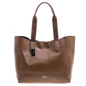 Coach Brown Pebbled Leather Derby Tote