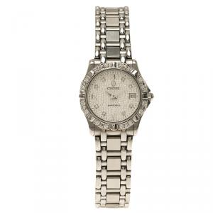 Concord Silver Stainless Steel Diamond Saratoga Women's Wristwatch 24MM