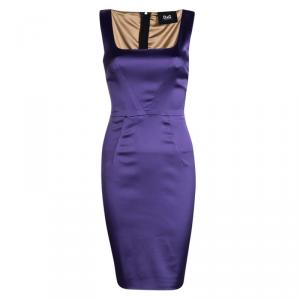 D&G Purple Satin Bodycon Sleeveless Dress M