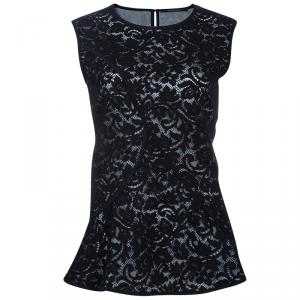 Derek Lam Black Lace Top L