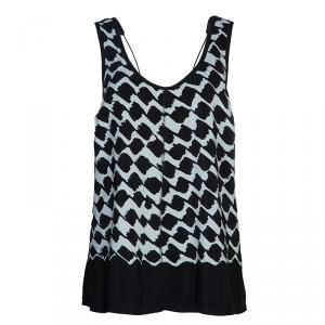 10 Crosby Derek Lam Monochrome Crossover Strap Sleeveless Top M