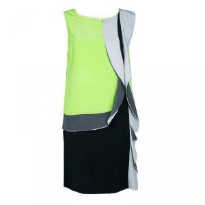 Diane von Furstenberg Multicolor Shizuka Silk Sleeveless Dress L