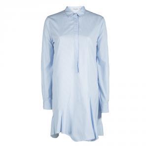 Christian Dior Blue and White Striped Cotton Shirt Dress M