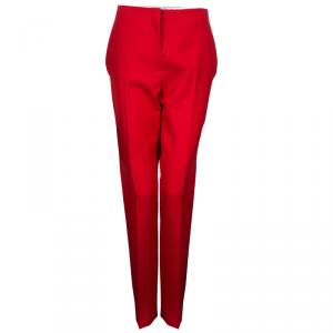 Dior Red Tailored Trousers M