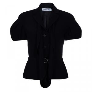 Dior Black Short Sleeve Jacket M