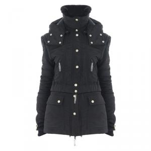 Dior Black Rabbit Fur Down Jacket S