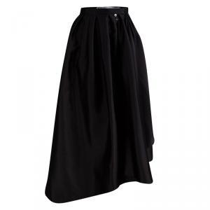 Dior Black Silk Zip Detail Pleated Maxi Skirt S