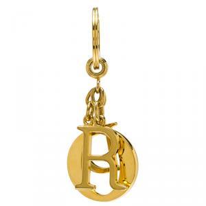 Dior Logo Charm Gold Tone Key Ring