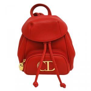 Dior Vermilion Calfskin Leather Backpack