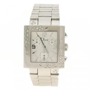 Christian Dior Silver White Stainless Steel Riva Women's Wristwatch 31mm