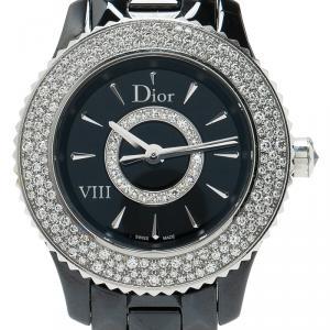 Dior Black Ceramic Diamond VIII Women's Wristwatch 28MM