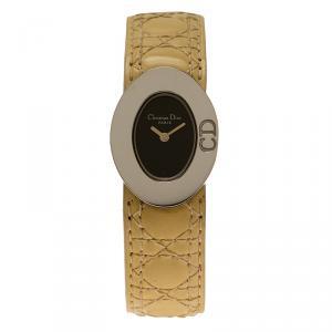 Dior Black Stainless Steel Lady Dior Women's Wristwatch 21MM