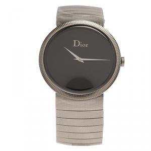 Dior Black Stainless Steel La D De Dior Women's Wristwatch 33MM