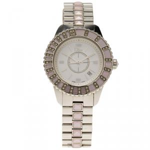 Dior Mother Of Pearl Stainless Steel Christal Women's Wristwatch 32MM