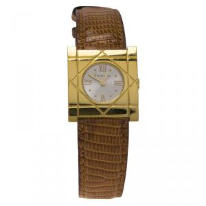 Dior Vintage Gold-Plated Stainless Steel D82-150 Women's Wristwatch 24MM