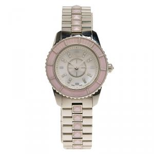 Dior Mother of Pearl Stainless Steel Christal CD112110M002 Women's Wristwatch 28MM