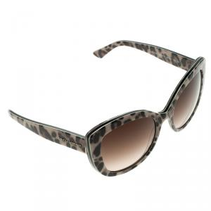 Dolce and Gabbana Brown DG 4233 Leopard Frame Cat Eye Sunglasses