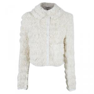 Dolce and Gabbana Off-white Agnello Kalga Lamb Fur Jacket S