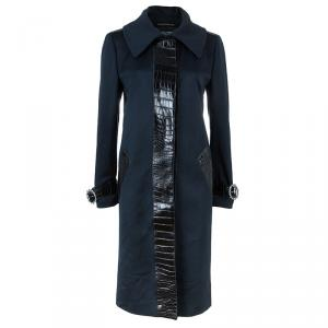 Dolce and Gabbana Alligator Trim Long Coat L