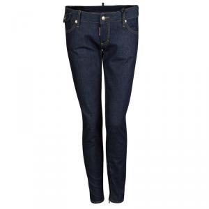 DSquared2 Indigo Dark Wash Denim Zip Detail Skinny Jeans M