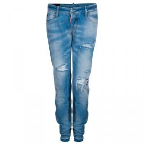 Dsquared2 Light Blue Distressed Denim Jeans M