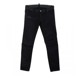 Dsquared2 Black Studded Denim Jeans S