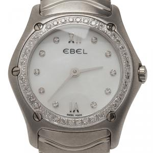 Ebel Mother of Pearl Stainless Steel Diamond Classic Women's Wristwatch 27MM