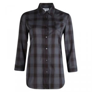 Elizabeth and James Grey Cohen Plaid Button Down Shirt S
