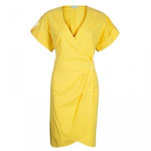 Emilio Pucci Yellow Cotton Wrap Dress L