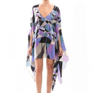 Emilio Pucci Multicolor Silk Kaftan Dress S/M