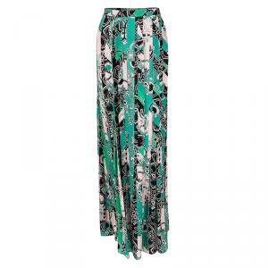 Emilio Pucci Multicolor Printed Pleat Detail Maxi Skirt M