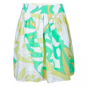 Emilio Pucci Multicolor Printed Flared Skirt S