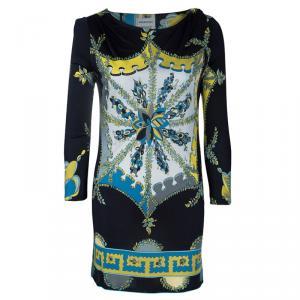 Emilio Pucci Printed Stretch Jersey Dress M