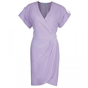 Emilio Pucci Lilac Cotton Wrap Dress M
