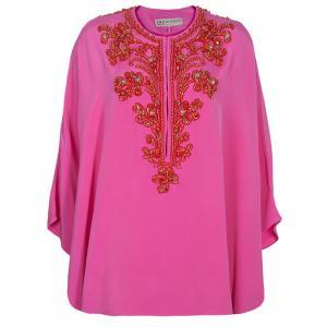 Emilio Pucci Pink Embellished Kaftan Top OS