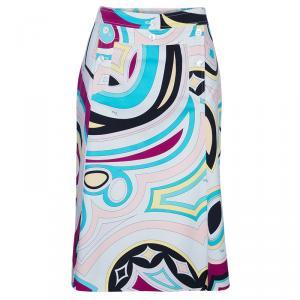Emilio Pucci Printed A-Line Skirt M