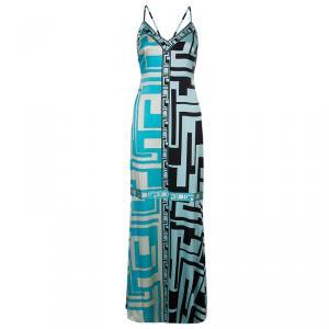 Emilio Pucci Multicolor Silk Maxi Dress M