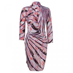 Emilio Pucci Multicolor Print Long Sleeve Dress S