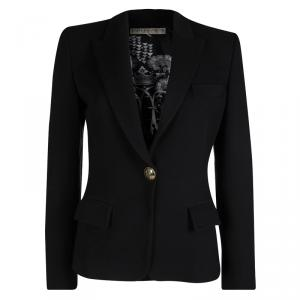 Emilio Pucci Black Notched Collar Blazer M