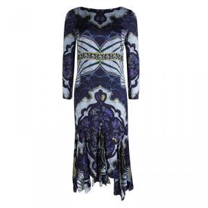 Emilio Pucci Multicolor Printed Silk Godet Dress M