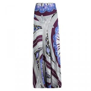 Emilio Pucci Multicolor Printed Silk Gathered Maxi Skirt S