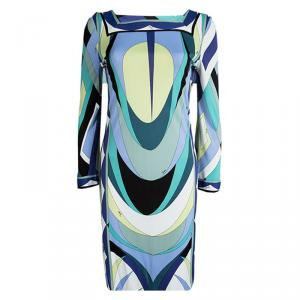 Emilio Pucci Multicolor Printed Knit Shift Dress M