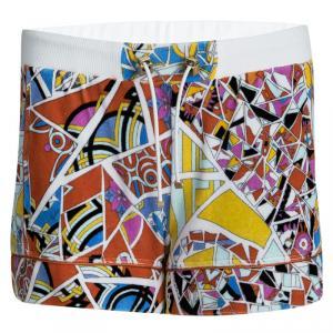 Emilio Pucci Multicolor Printed Velvet Terrycloth Shorts S