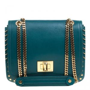 Emilio Pucci Emerald Green Leather Marquise Shoulder Bag