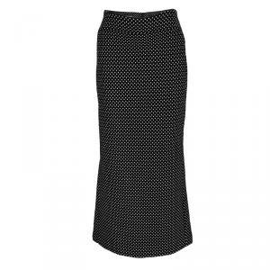 Emporio Armani Monochrome Woven Maxi Pencil Skirt L